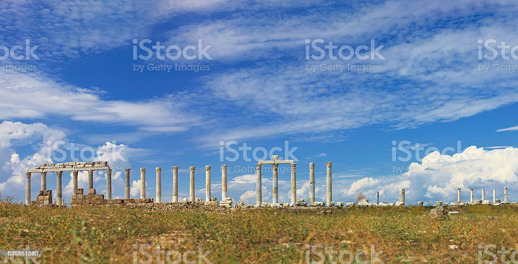 The Ancient City 'Laodikeia' - Panoramic stock photo