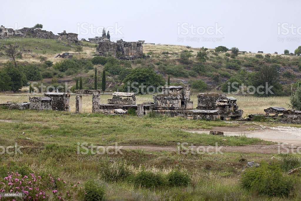 the ancient city of Hierapolis royalty-free stock photo