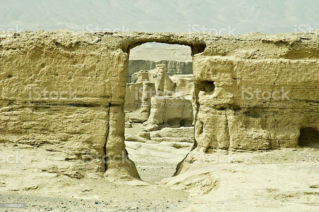 The Ancient City of Jiaohe, Xinjiang, China stock photo