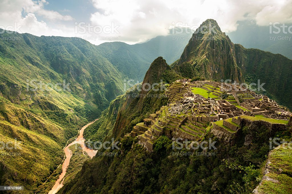 The ancient city of Machu Picchu, Peru stock photo