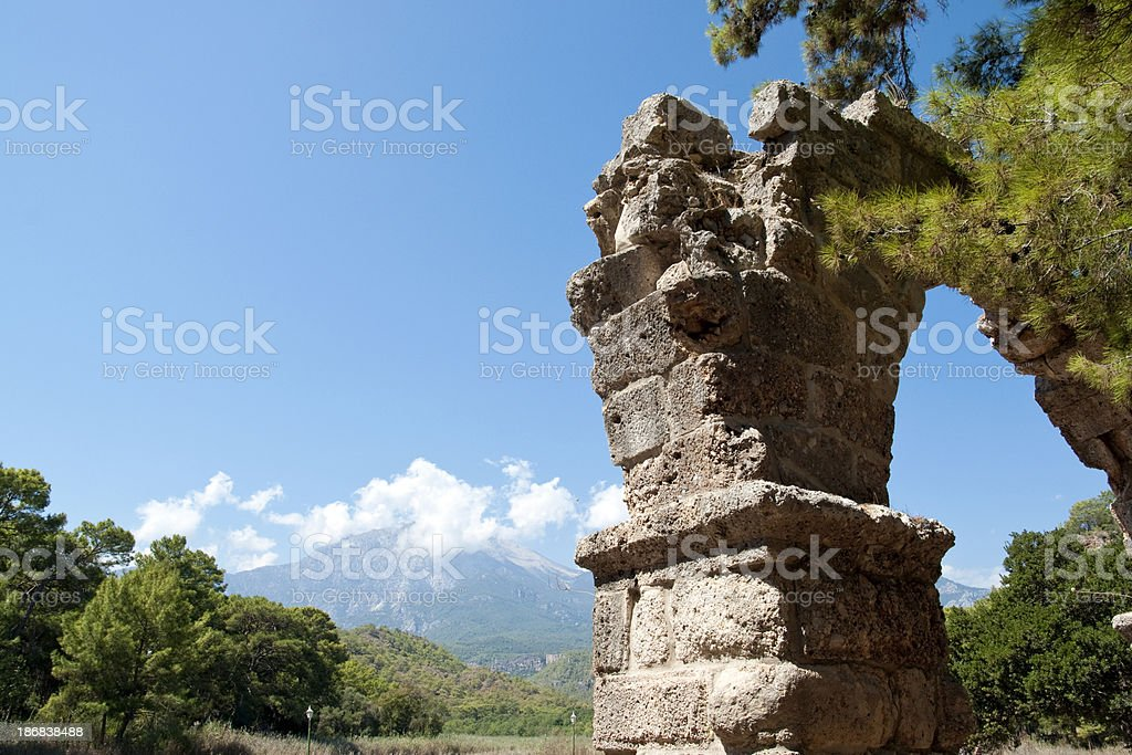 The ancient city of Phaselis stock photo
