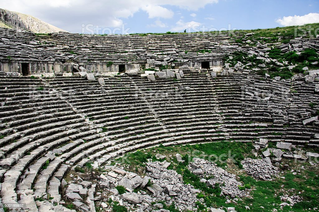 The ancient city of Sagalassos. stock photo