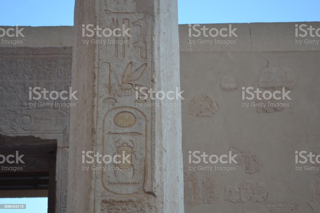 The Ancient Egyptian Architecture.The Temple of Nefertari stock photo