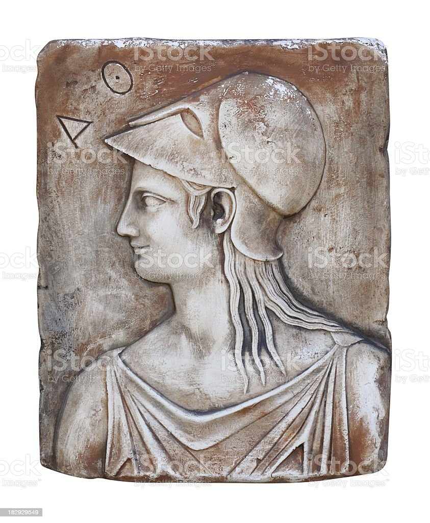 The ancient Greek goddess Athena royalty-free stock photo