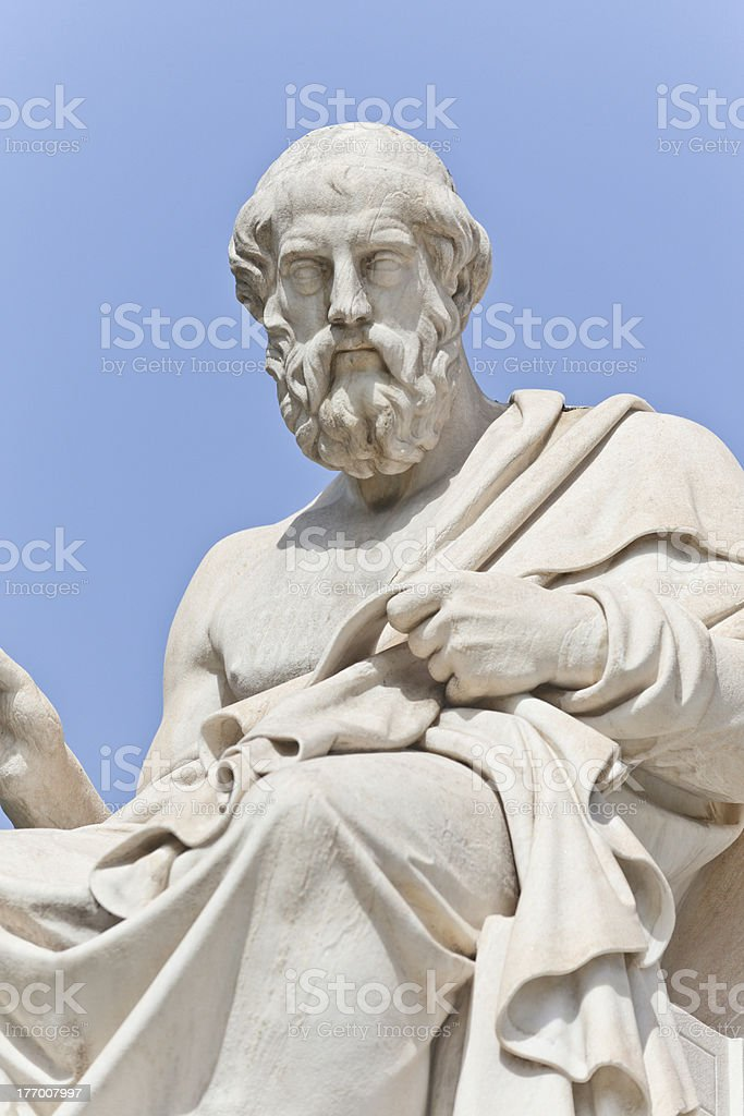 The ancient Greek philosopher Platon stock photo