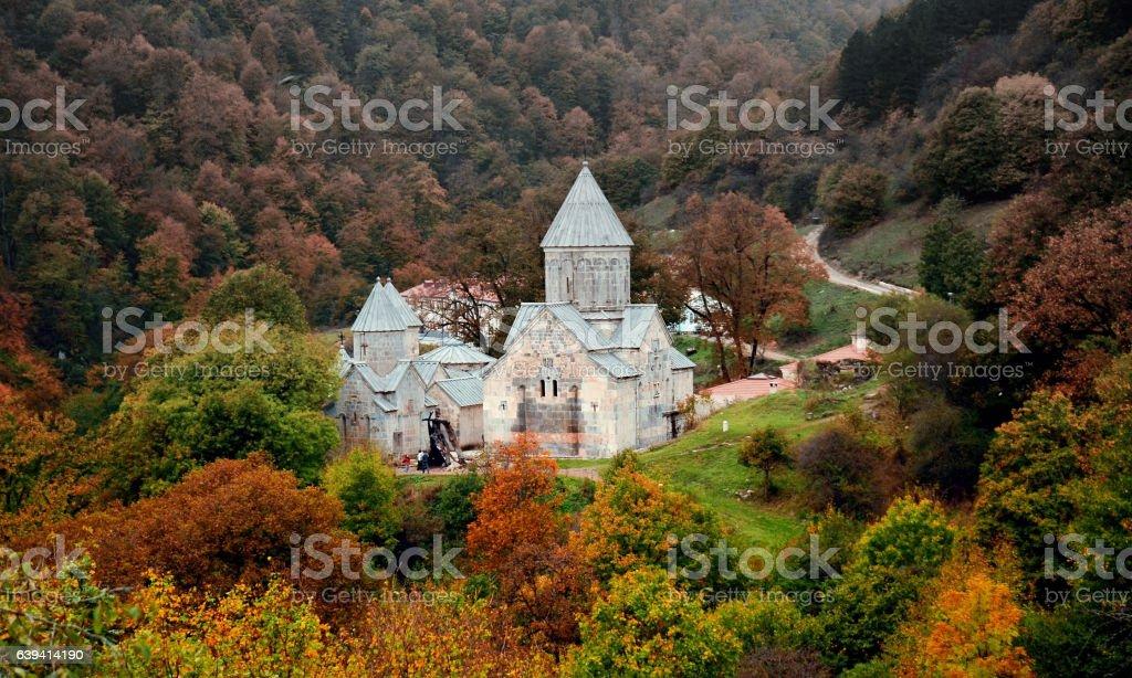 The ancient Haghartsin monastery stock photo