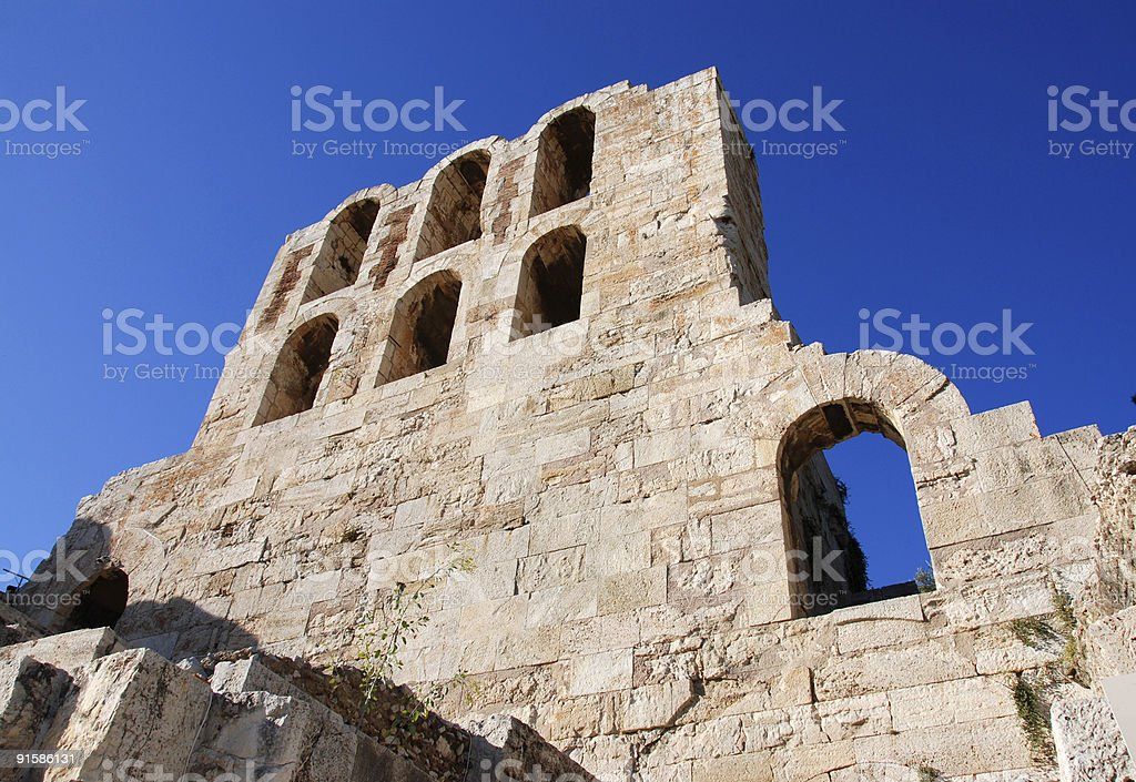 The ancient Herodion, Athens Greece royalty-free stock photo