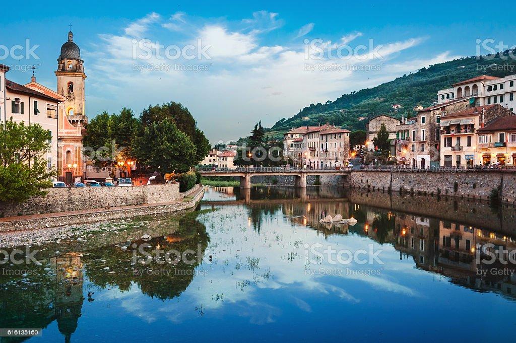 the ancient Italian city Dolceaqua. Liguria. stock photo