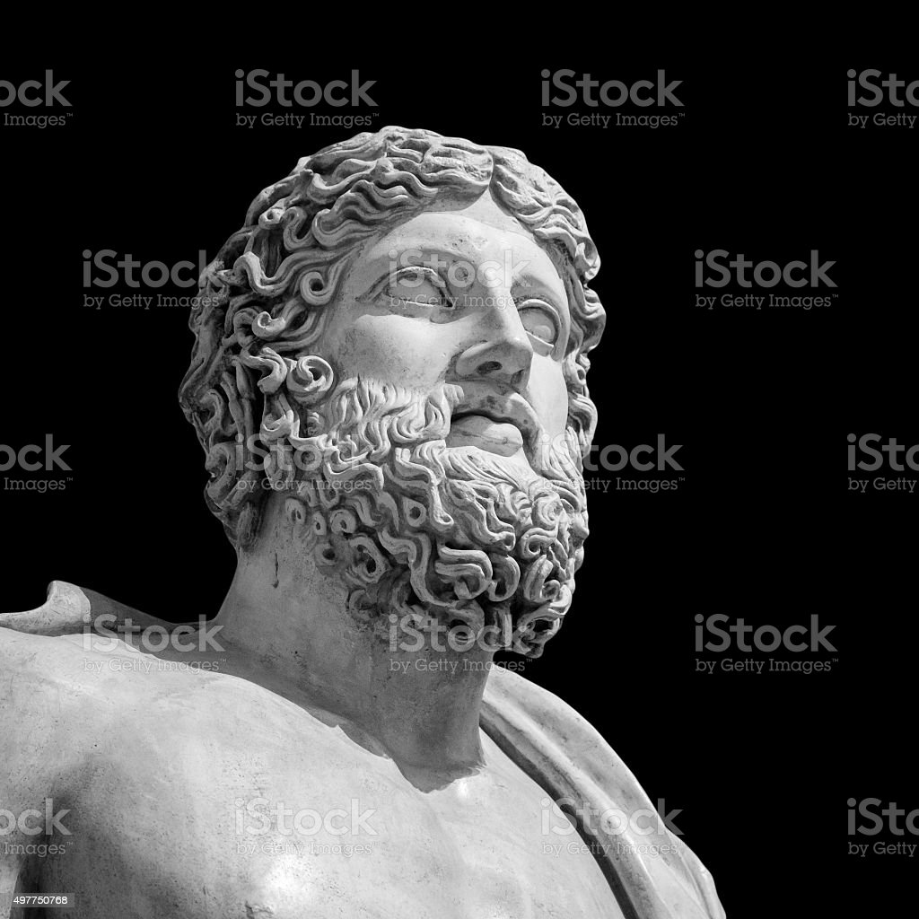 The ancient marble portrait bust stock photo