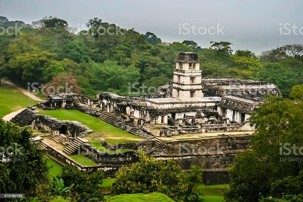 The ancient Mayan city stock photo
