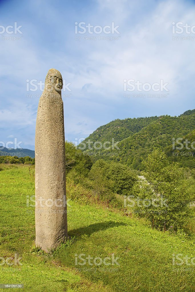 The ancient pagan fertility symbol. royalty-free stock photo