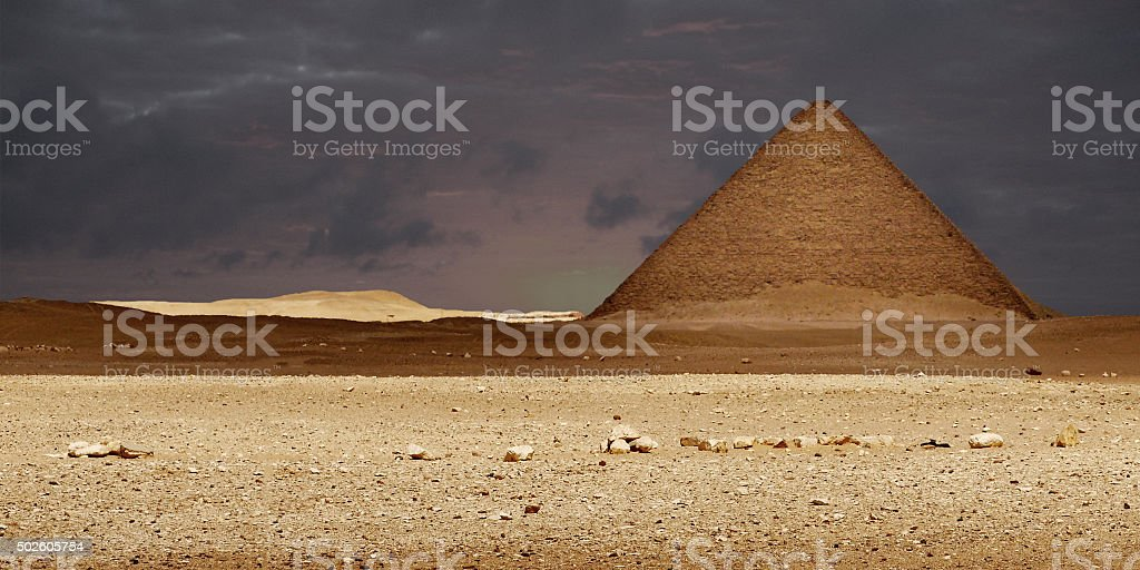 The ancient pyramids in Egypt. stock photo