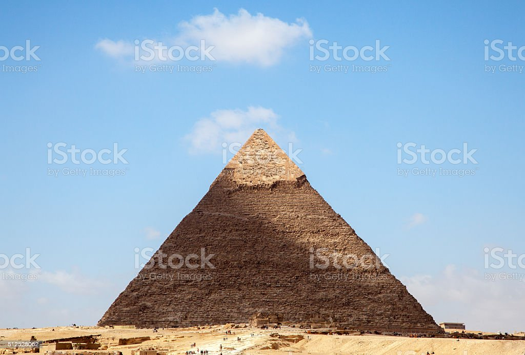 The ancient pyramids in Egypt stock photo