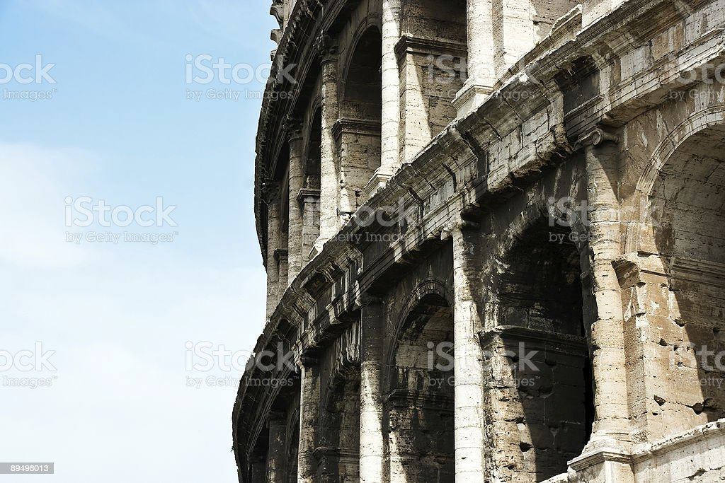 The ancient ruins of Roman coliseum. Italy. royalty-free stock photo