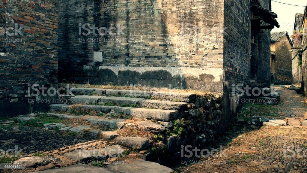 The ancient stone walls stock photo
