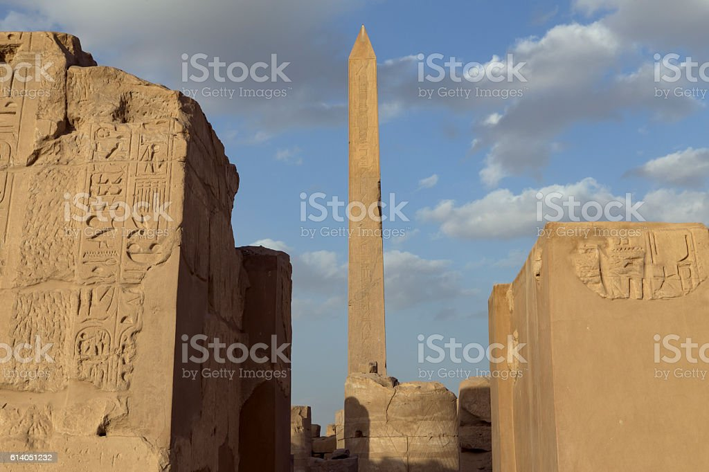 The ancient temple of Karnak in Luxor. stock photo