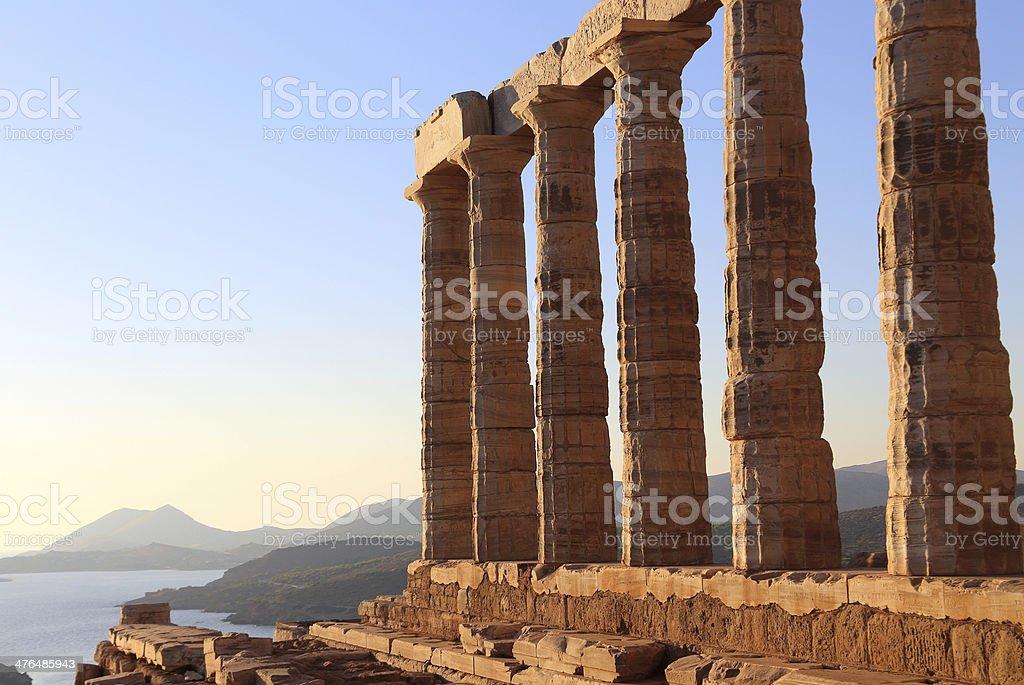the ancient temple of Poseidon stock photo