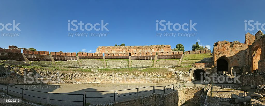 The Ancient theatre of Taormina royalty-free stock photo