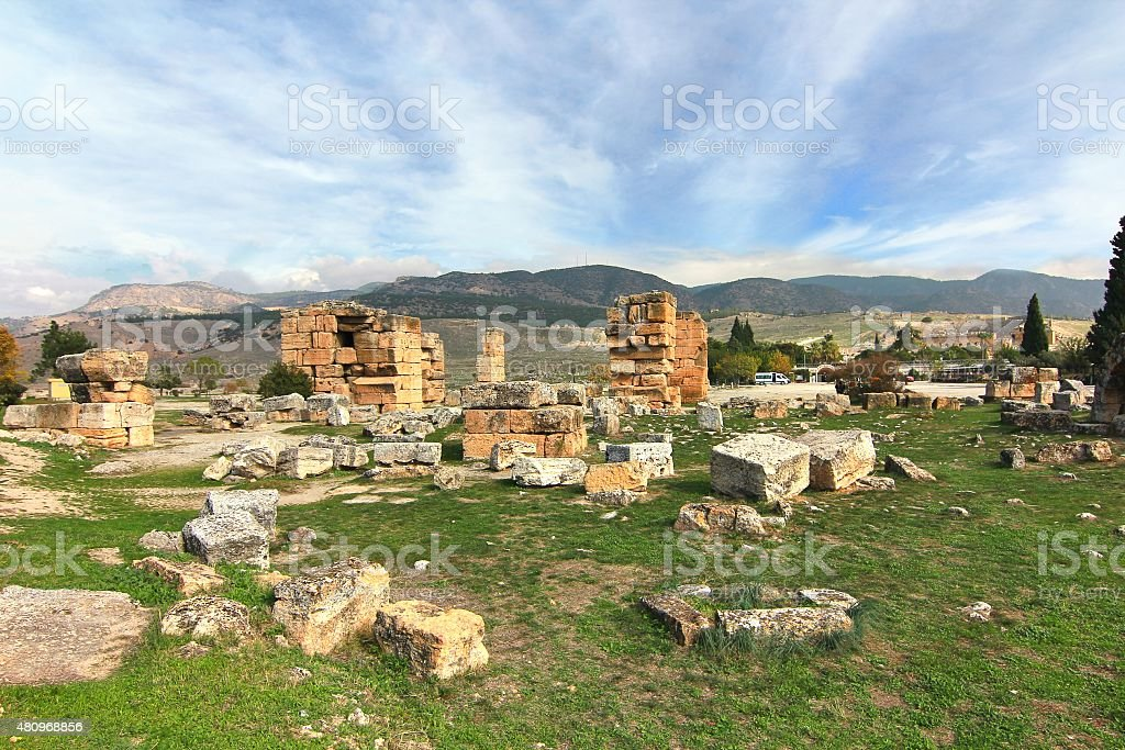 The ancient town Hierapolis, Turkey stock photo