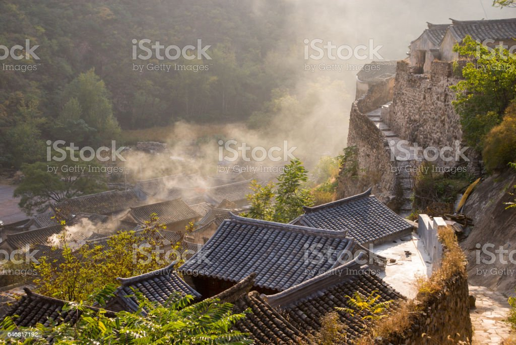 The ancient village in Beijing of China stock photo