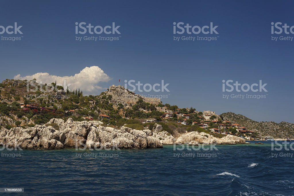 The ancient village royalty-free stock photo
