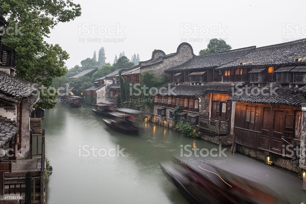The ancient water town of Wuzhen stock photo