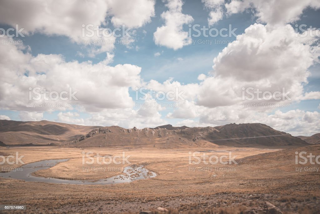 the Andean highlands, Peru stock photo
