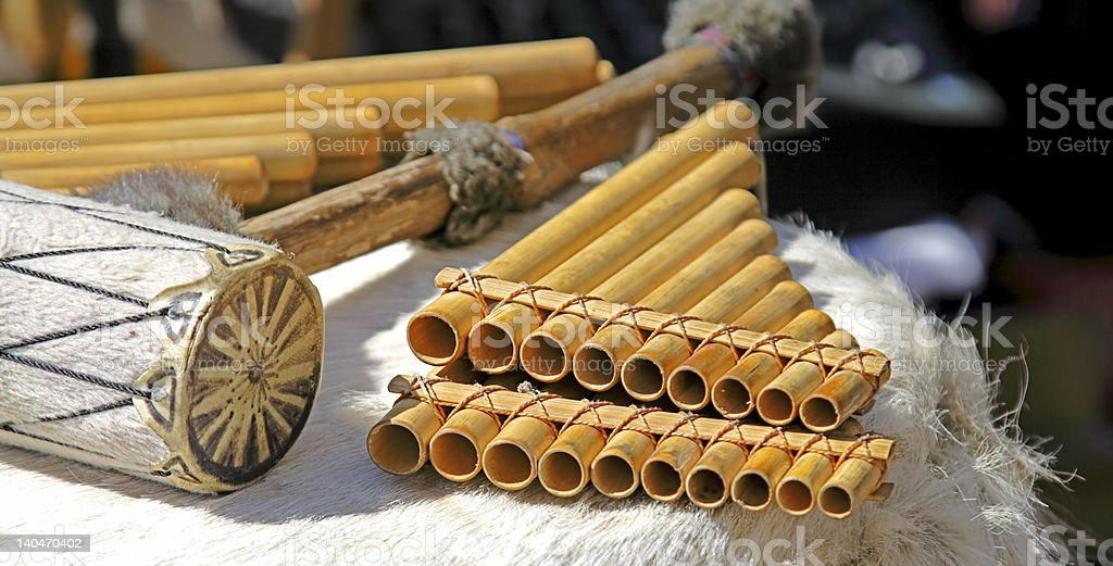 The Andean instruments stock photo