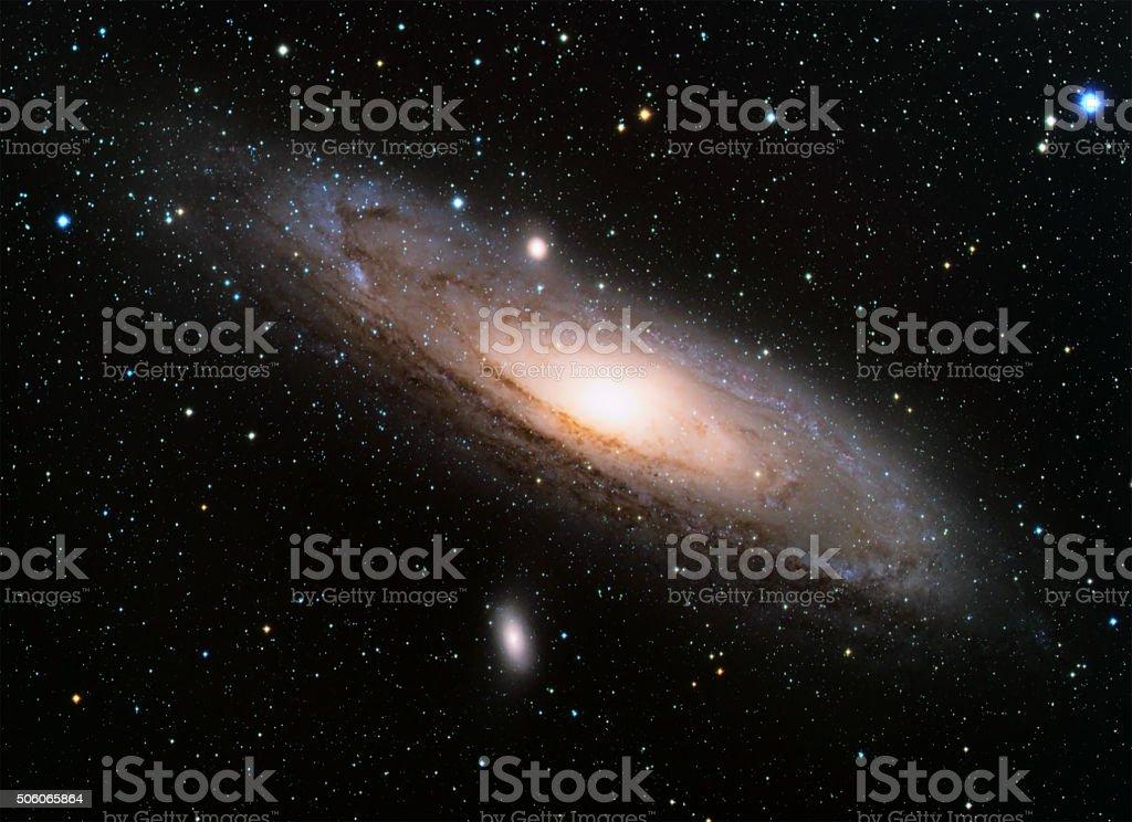 The Andromeda Galaxy stock photo