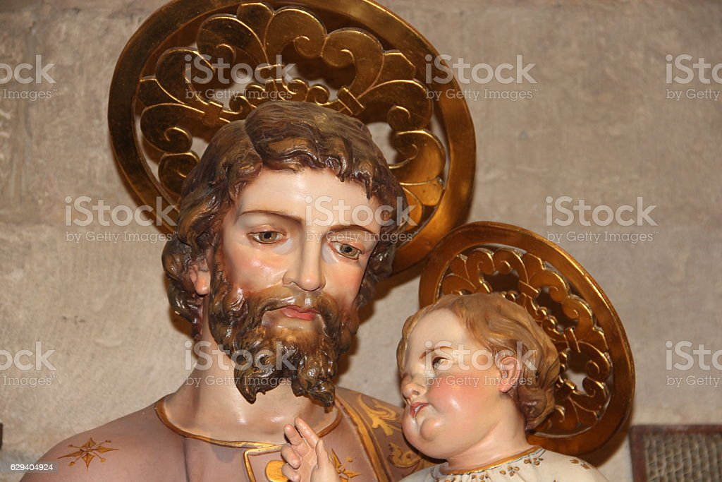 The angel and the father stock photo