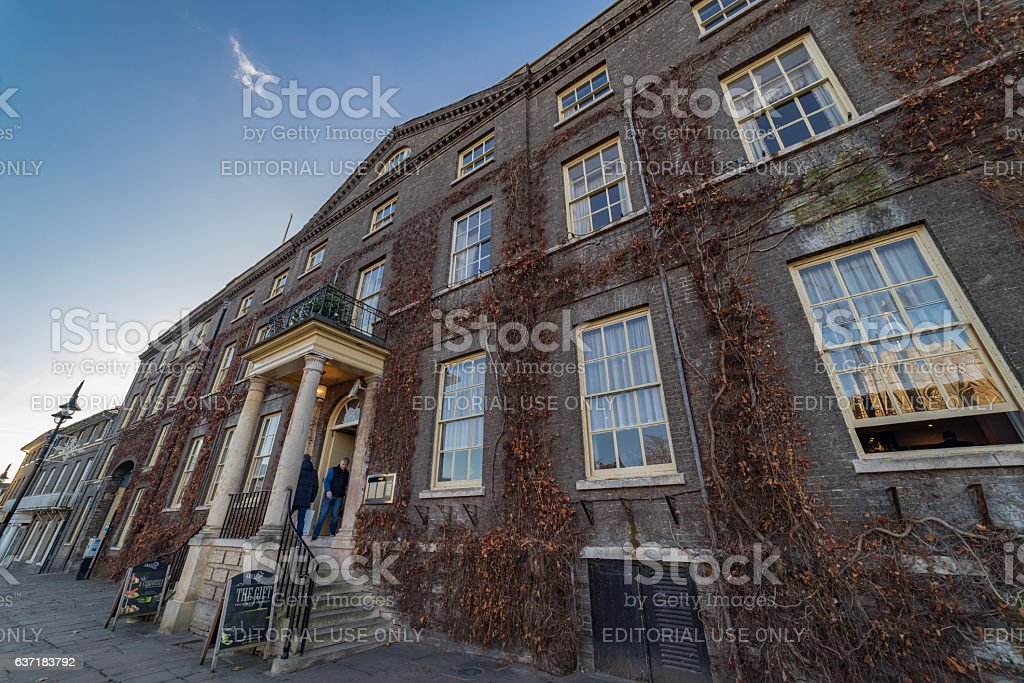 The Angel Hotel in Bury St Edmunds, Suffolk stock photo