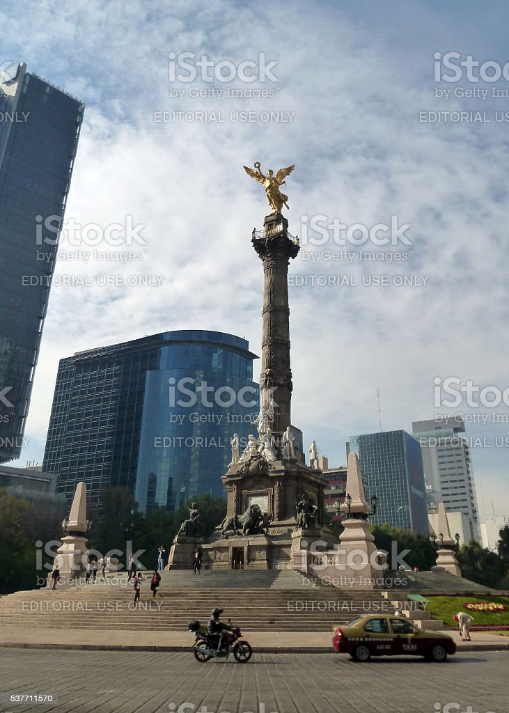 The Angel of Independence in Mexico City stock photo