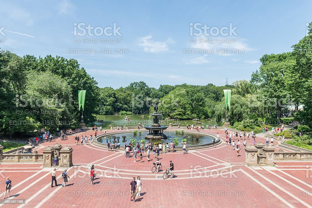 The Angel of The Waters Fountain at Bethesda Terrace stock photo
