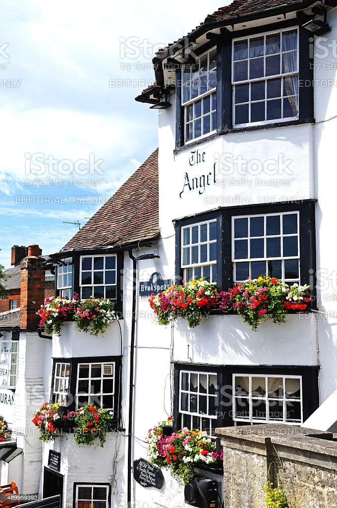 The Angel Pub, Henley-on-Thames. stock photo