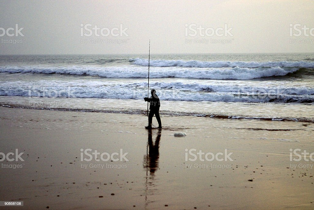 The angler royalty-free stock photo