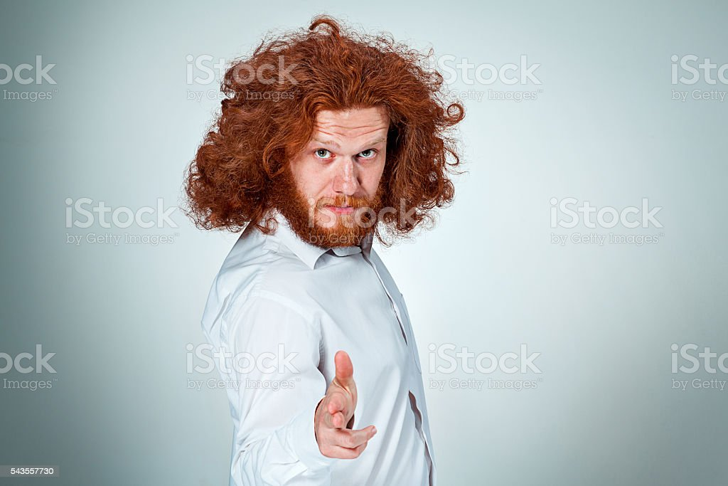 The Angry man stock photo