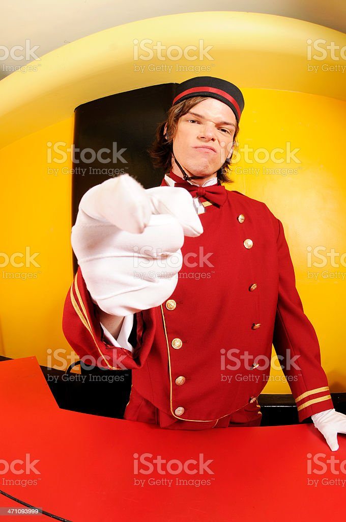The Angry Usher royalty-free stock photo