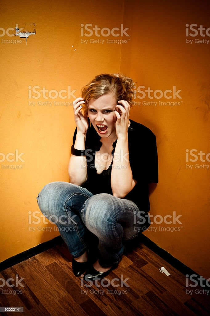 the angst royalty-free stock photo