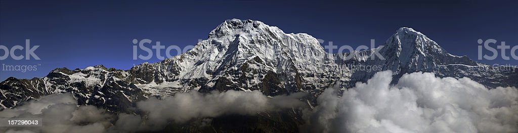 The annapurna range royalty-free stock photo