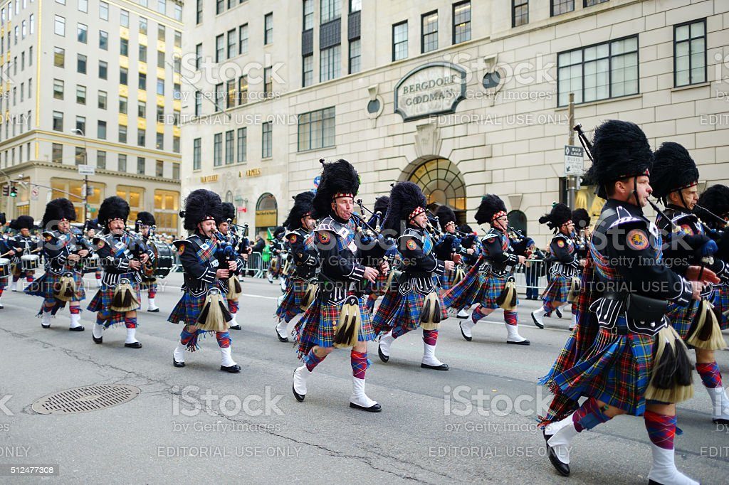 The annual St. Patrick's Day Parade in New York stock photo