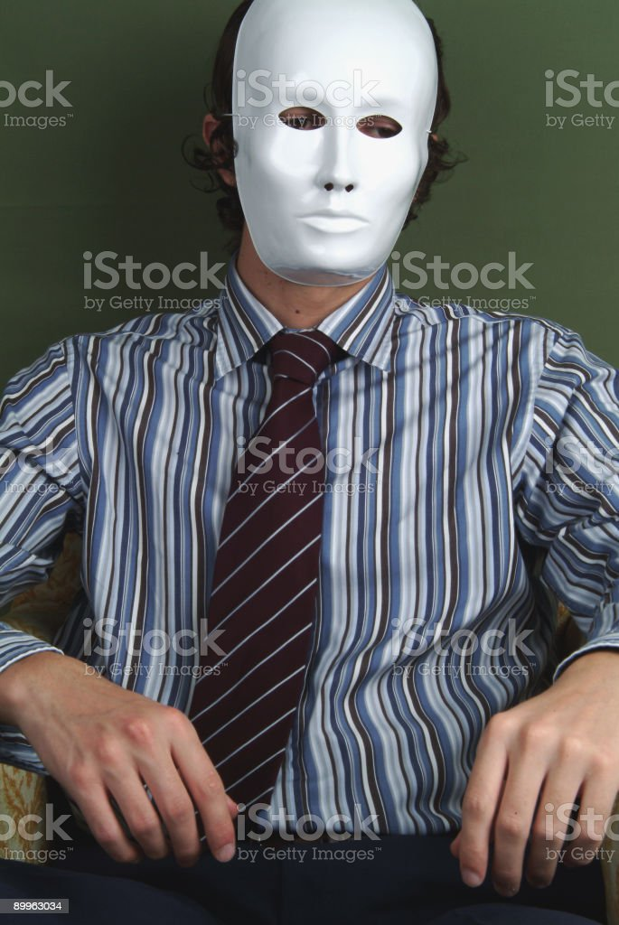 The anonymous worker royalty-free stock photo