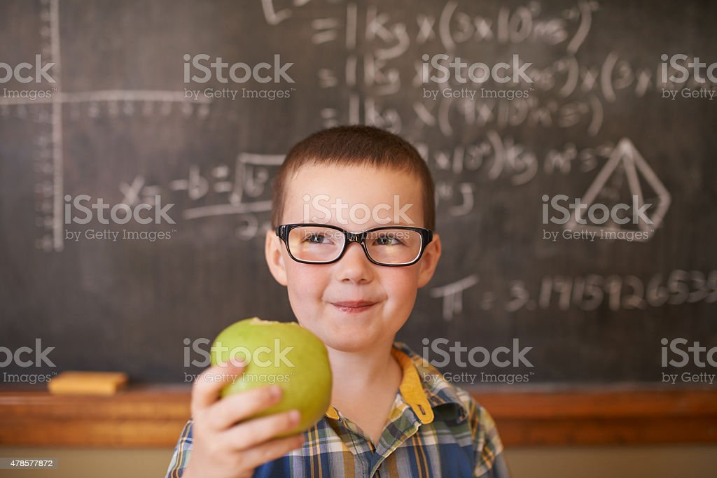 The answer to a great education is good nutrition stock photo