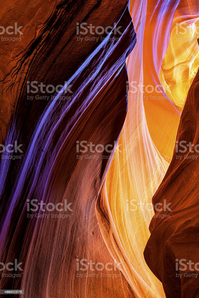 The Antelope Canyon, Page stock photo