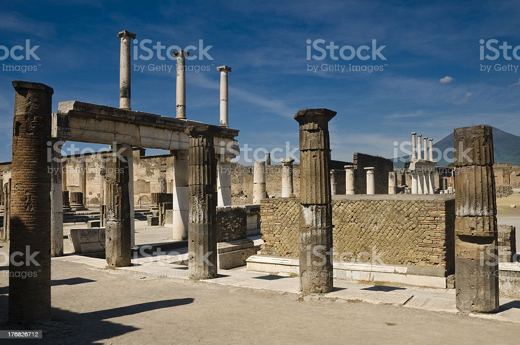 The antique site of Pompei royalty-free stock photo