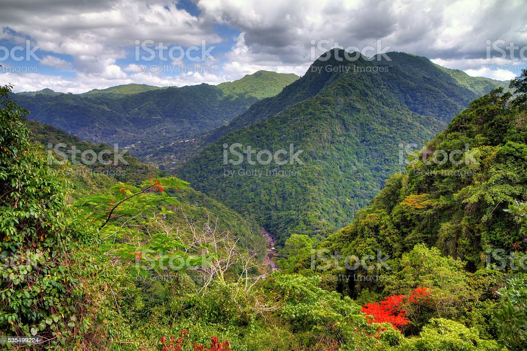 El Yunque panorama stock photo