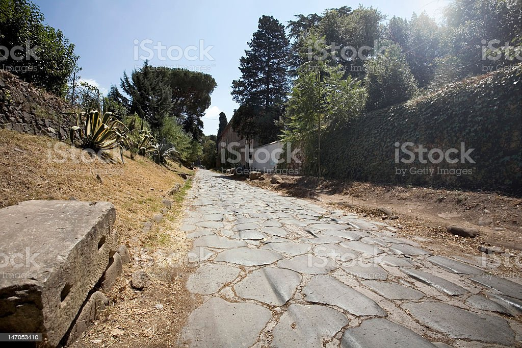 The Appian way in Rome stock photo