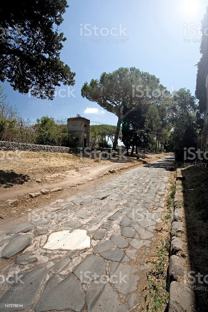 The Appian way in Rome royalty-free stock photo