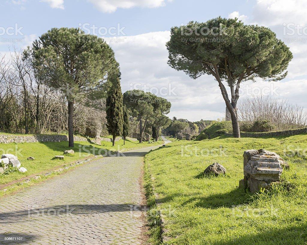 The Appian Way stock photo