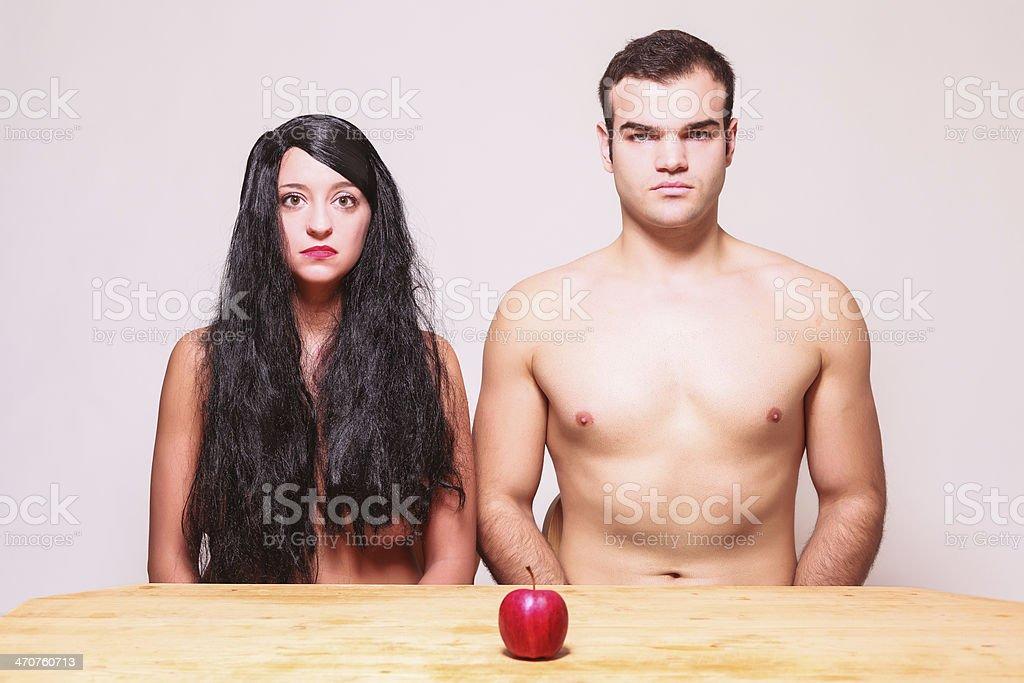 The apple of temptation stock photo