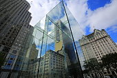 the Apple Store in Fifth Avenue in New York